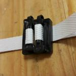 Пластиковая пряжка на ленту 12 мм