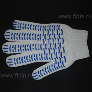 Перчатки рабочие белые 5 нитей (волна)